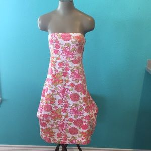 Lilly Pulitzer Reversible Strapless Floral Dress